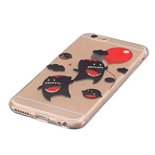 "iphone 6s Coque / iphone 6 -4.7"" [Clair] MYTH Transparente Housse, Silicone Ultra Mince Doux TPU Étui de Protection Bumper Cover Mignon Dessin animé Mignon Dessin animé"