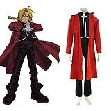 Fullmetal Alchemist Edward Elric Custome Cosplay,Taglia L (altezza 168cm-172 cm, peso 60-70 kg)