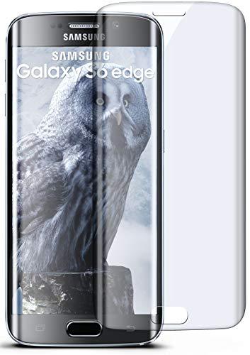 moex 3D Panzerfolie für Samsung Galaxy S6 Edge | Panzerglas Full Screen Glasfolie [Tempered Glass Curved] Protector Glas Bildschirmschutz-Folie für Samsung Galaxy S6 Edge Schutzfolie, Transparent