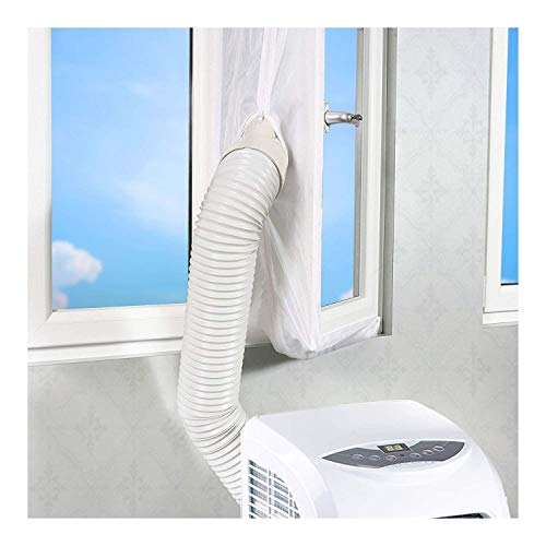 About1988 Fensterabdichtung für mobile Klimageräte und Ablufttrockner, Airlock Für Universal Fenster mit einer,Abluft Fenster Abdichtungen (Grau)