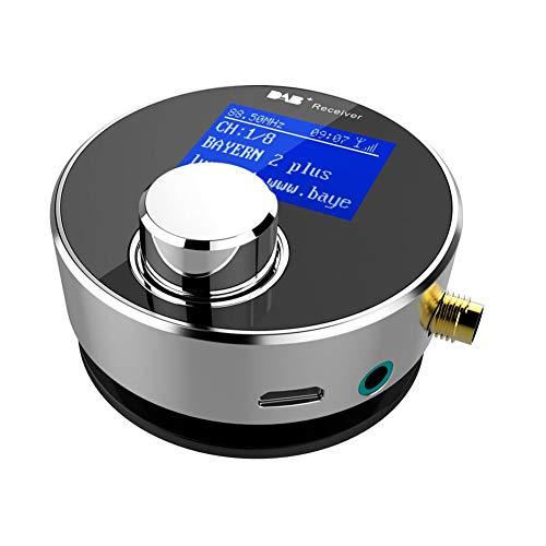 Yunhigh DAB/DAB-Radioempfänger für Autoradio Home Stereo-Audiosystem, Mini Portable Digital Radio Adapter FM Transmitter/Aux-Out Portable Fm-transmitter