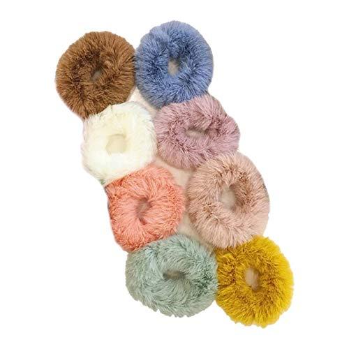 Ipotch 8pz scrunchies elastici fasce per capelli capelli sintetici fiocchi colorati per donne ragazze