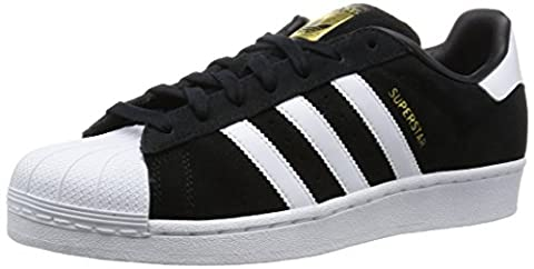 adidas Herren Superstar Suede Sneaker, Schwarz (Core Black/Ftwr White/Core Black), 40 2/3 EU