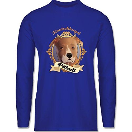 Hunde - Pitbull - Knutschkugel - Longsleeve / langärmeliges T-Shirt für Herren Royalblau