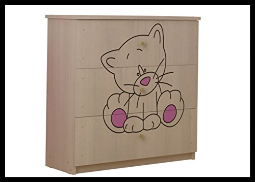 5 PCS BABY NURSERY FURNITURE SET - COT + MATTRESS + WARDROBE + CHEST OF DRAWERS + TOY BOX (model 6)  Included: cot + mattress + wardrobe + chest of drawers + toy box Material: wood GREAT QUALITY 2