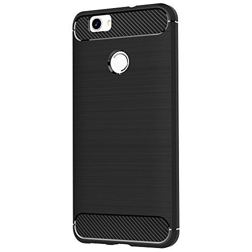 Cover Huawei Nova, AICEK Cover Huawei Nova Nero Silicone Case Molle di TPU Sottile Custodia per Huawei Nova