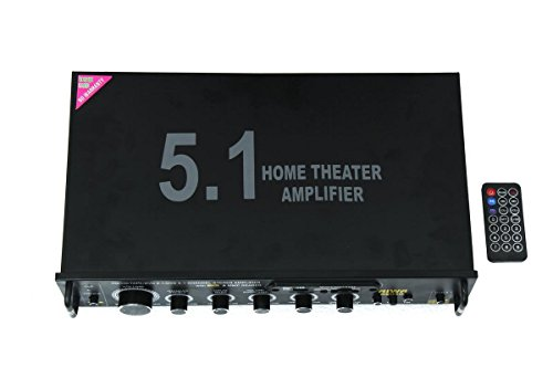 Soumik Electricals 5.1 Ch Amplifier, Use in your home, Connect Subwoofer and 5 Speaker, With USB FM AUX