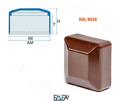 *10 Stck. Zaunpfahlkappe quadratisch 100×100 Braun Kunststoff Pfostenkappen Abdeckappen*