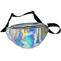 LA HAUTE Fashion Waist Bags Running Belt Fanny Packs Bum Bags,Silver