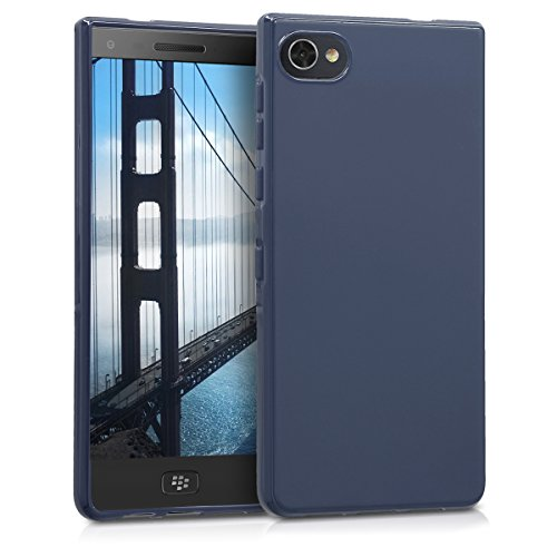 kwmobile Hülle für Blackberry Motion - TPU Silikon Backcover Case Handy Schutzhülle - Cover Dunkelblau matt