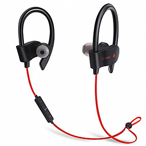 ShopMagics Wireless Bluetooth In-Ear Headphones For One Plus 3, One Plus 3T, Samsung Galaxy S8 Plus, Samsung Galaxy C9 Pro, Samsung Galaxy C7 Pro, Nexus 5X Nexus 6P, New Macbook 12 inch, ChromeBook Pixel, Lyf F1S, Lenovo Z2 Plus, LeEco Le 2, Letv Le 1S Headset Hands-Free Earphone With Mic And Volume Controller Noise Isolating Sports Earbuds, Sweatproof, Designed for Running, Jogging, Hiking Exercise And Gym (Black, Blue, Red, Green)