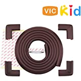 Vic Kid® Edge & Corner Guard for Baby Proofing | Child Safety Furniture Bumper | Table Protectors | Safe Edge & Corner Cushion (Normal Thick, 6.5 Ft Edge + 4 Corners)