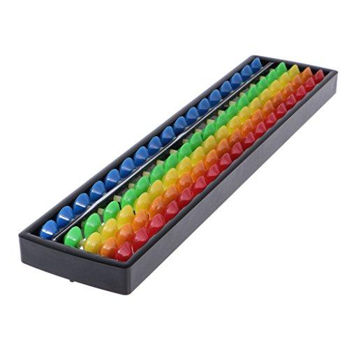 MagiDeal 17-seitig Kinder leicht Bunt Kunststoff Abakus Abacus Soroban Berechnung Mathematik Tool Werkzeug Rechenrahmen Rechenschieber (Abacus Für Kinder)