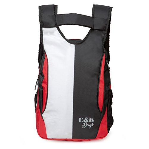 Chris & Kate White-Black Stylish New Casual Backpack | Laptop Bag | College Bag | School Bag (21 litres) (CKB_174MB)