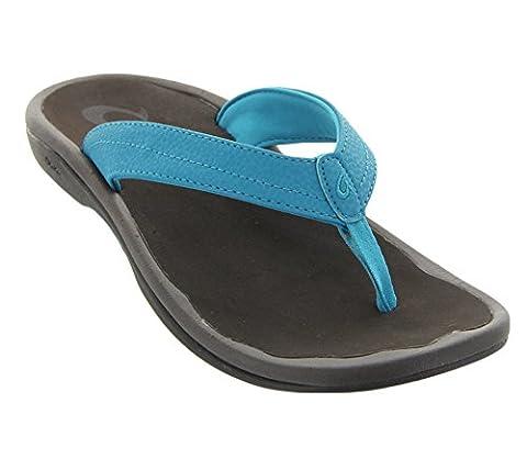 Olukai Ohana sandale–Femme - - Bleu Tropiques / marron Java