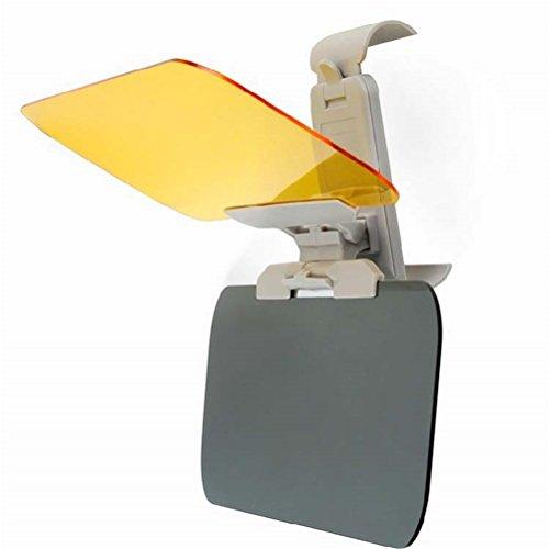 Dbtxwd Auto-Visier, 2 in 1 Auto Sun Anti-UV-Block Blendschutz Visier, Tag und Nacht Sonnenschirm Spiegel Schutzschild Für Jedes Auto LKW-Fahren (Tag Und Nacht Visier)