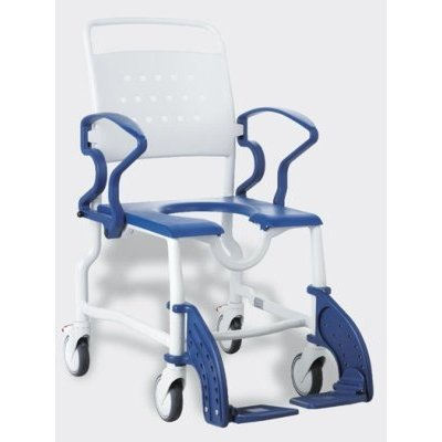"Dusch-Rollstuhl ERFURT 5\"" Räder, grau/ blau, Badehilfen"