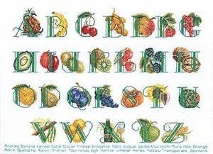 Fruits Alphabet Sampler Kit point de croix Motif