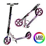 Apollo XXL Wheel Scooter - Phantom Pro City Scooter, Klappbarer City-Roller, höhenverstellbar, Tret-Roller für Erwachsene und