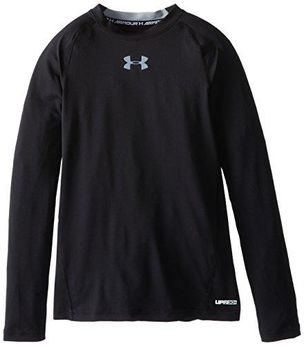 under-armour-maglia-fitness-per-bambino-manica-lunga-ragazzo-fitness-sweatshirt-nero-yxl