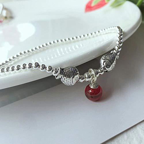 GAOTIAN Fußkettchen Fußkette Mode Fuß Link Kuss Fisch einfache koreanische weibliche rote Seil Perlen Fuß Seil