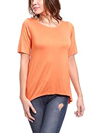 La Isla Del Sol Damen T-Shirt, Maglietta Maniche Corte ARA