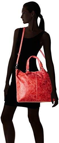 Chicca Borse 80055, Borsa a Tracolla Donna, 47 x 34 x 15 cm (W x H x L) Rosso