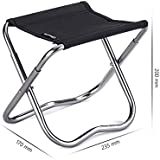 FOME Folding Portable Stool Travel Chair Fishing Hunting Camping Furniture Chair