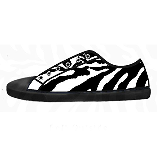 (Custom zebra print Women's Canvas shoes Schuhe Lace-up High-top Footwear Sneakers)