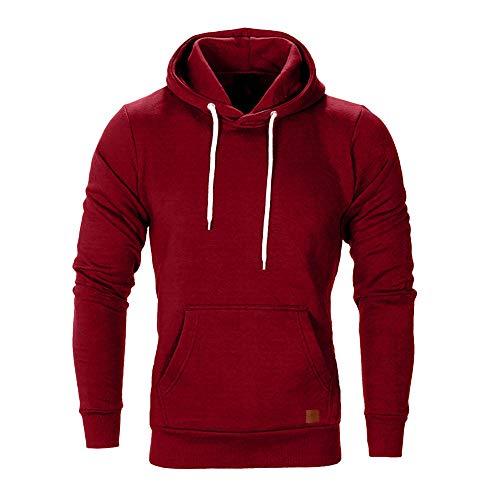 Innerternet Herren Basic Kapuzenpullover Sweatjacke Pullover Hoodie Sweatshirt