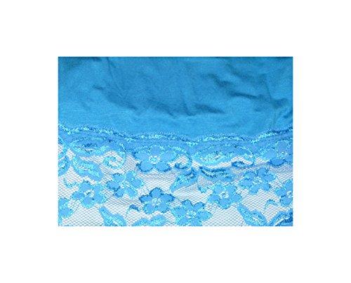 S&LU Elegantes langes Spitzen-Top in wunderschönen Farben Gr. 34-38 und Gr. 40-44 Hellblau