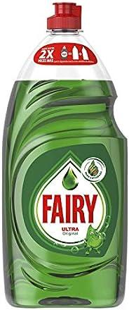 FAIRY Ultra Original Líquido Lavavajillas Verde Con LiftAction: Sin Dejar En Remojo, Sin Grasa, Sin Dificultad
