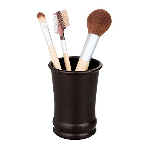 Bronze 4.25 (InterDesign 4-teiliges Badezimmer-Set mit Toiletten- und Aufsatz-Organizer-Set: Olivia Hoher Seifenspender, Becher, Zahnbürstenhalter und Seifenschale Trinkglas 3.25