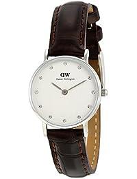 Daniel Wellington 0922DW - Reloj con correa de piel para mujer, color blanco / gris