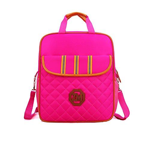 er-Handtaschen-Kunst-Buch-Taschen-Jungen und Mädchen-Mehrzwecksegeltuch-Taschen-Diagonales Paket,Red ()
