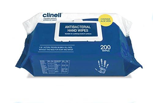 Clinell CAHW200 - Toallitas mano antibacterianas