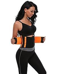 MISS MOLY Waist Shaper AdelgazanteWaist Trainer Training Corset Deportivo Shaper Moldeadora Faja Reductora Cintura Corsé Slimming Belt Negro/Rojo/Azul/Naranja