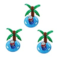 Vercrown Inflatable Drink Float Holders Swim Pool Party Coasters Pink Flamingo Cup Holder Floats Raft Beach Party Toy