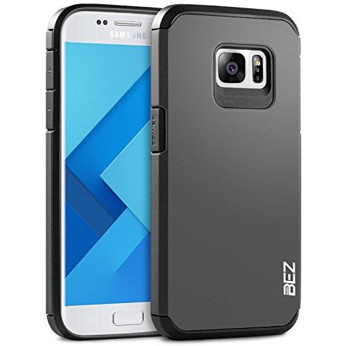 Samsung Galaxy S7 Hülle, BEZ® Handyhülle Samsung Galaxy S7 Stoßfestes Etui, [Heavy Duty Serie] Outdoor Dual Layer Armor Case Handy Schutzhülle [Shockproof] robuste Hülle - Silber