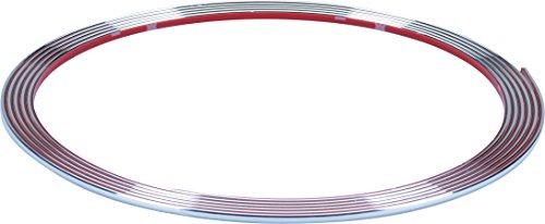 Preisvergleich Produktbild hr-imotion selbstklebende Chrom-Zierleiste - 365cm x 3,5mm [3M Material | Zuschneidbar | Witterungsbeständig | Hochflexibel] - 12010001