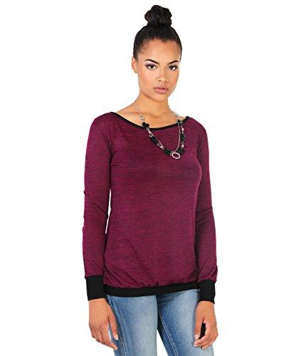 KRISP Damen Sweatshirt Rückenausschnitt_(9305-WIN-M)