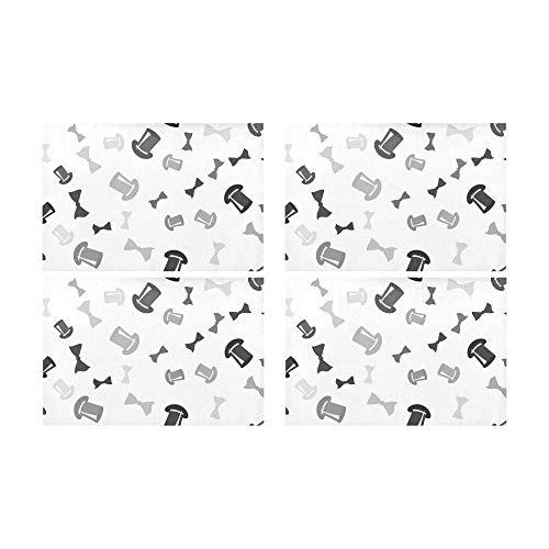 hen Mode Dekoration Rutschfeste Fleckenbeständig Wärmedämmung Waschbar Platzdeckchen Tischset Für Baby Und Frauen Runden Esstisch Küchentisch 12