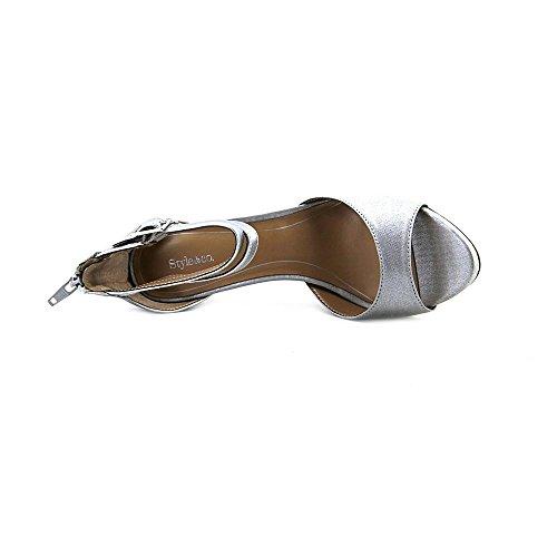 Style & Co Branden Synthetik Sandale Silver