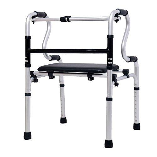 XIHAA Ältere Menschen Walker Höhenverstellbar Klapp Aluminiumlegierung Pulle Behinderte Person Walking Rehabilitation Ausrüstung Bad Bad Stuhl (Ohne Rad) (Medical-rollator 4-rad Drive)