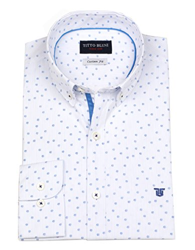 TITTO BLUNI Herren Freizeit-Hemd Blau