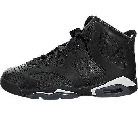 Nike 384665-020- Chaussures de Basketball Garçon, Noir (Black/Black White), 36 EU