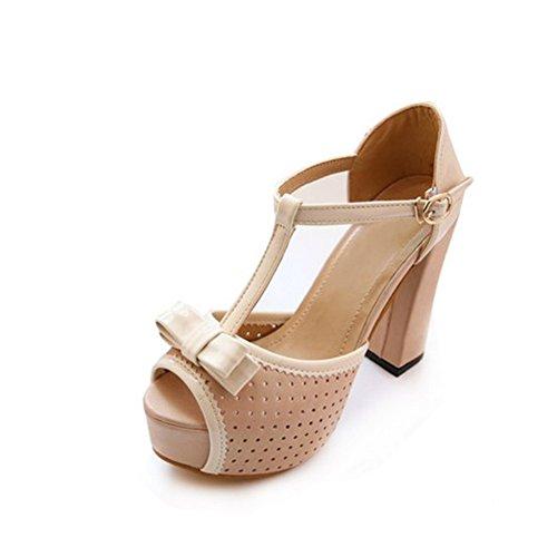 Les orteils peep jachère plate-forme creuse de l'été/Rugueux avec des sandales à talon A