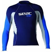 Seac RAA LONG EVO - Protección de neopreno, color azul y blanco,tamaño S