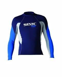 Seac RAA Long Evo Uomo Maglia protettiva Rash Guard per snorkeling e nuoto anti UV