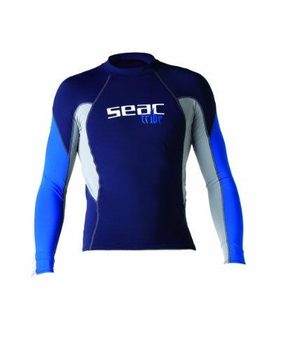 Seac Raa Long Evo T-Shirt Anti-Uv Uomo Maniche Lunghe, Multicolore, XL